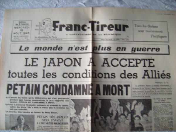 Journaux parut pendant la Seconde GM clandestinement
