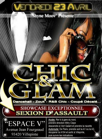 Soirée Chic & Glam avec Sexion D'assaut en Showcase Exceptionnel.