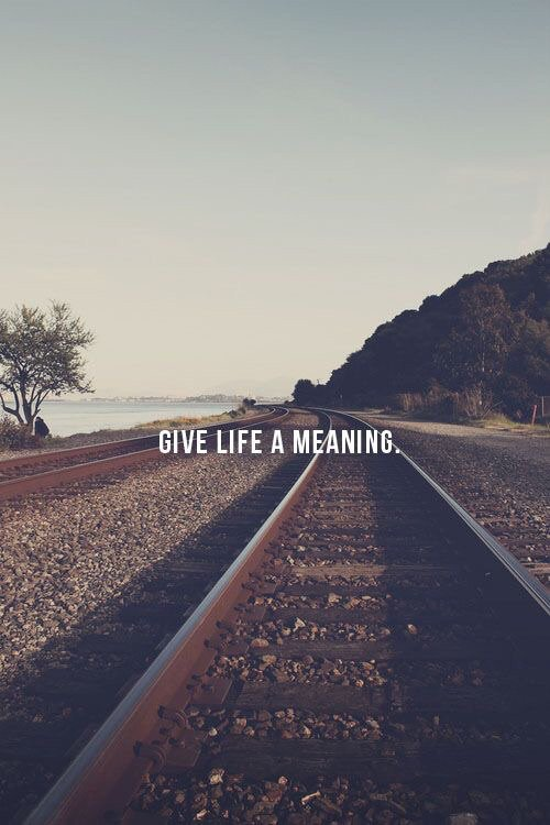 Meaning of life.