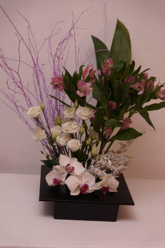 Cadre en blanc et rose