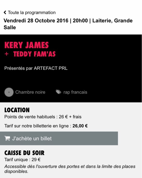 Kery James + Teddy Fam'as en concert