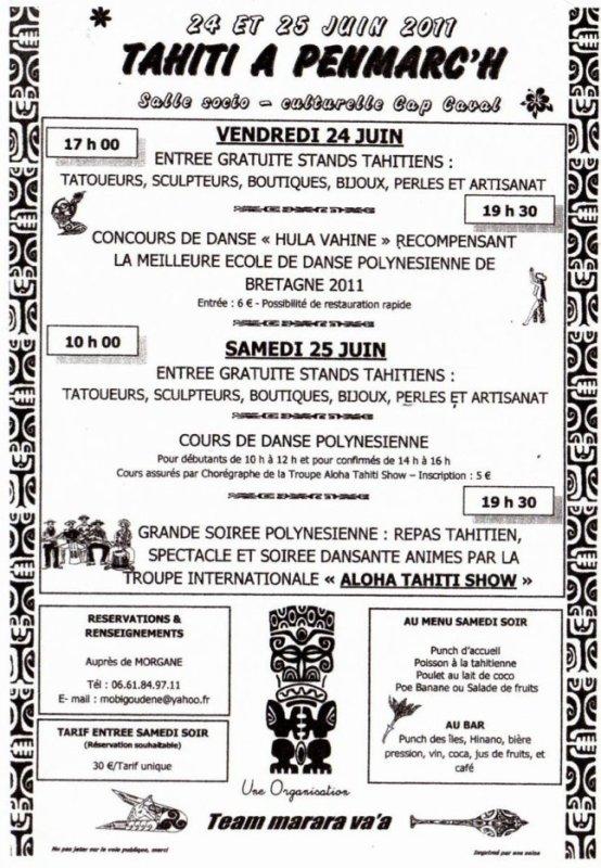 Heipuna au concours de la meilleure association de danse polynésienne de Bretagne..