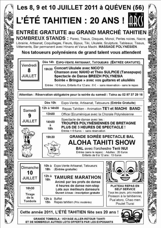 20ème édition de l'été tahitien à Quéven.