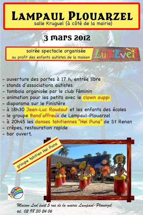 Samedi 3 Mars 2012 : Prestation pour la maison Lud'eveil