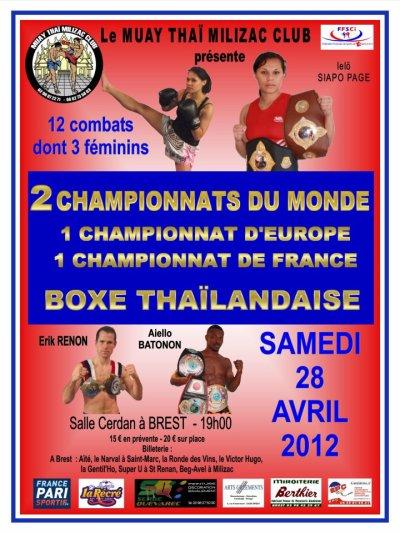 Prestation pour les championnats du monde de boxe à Brest