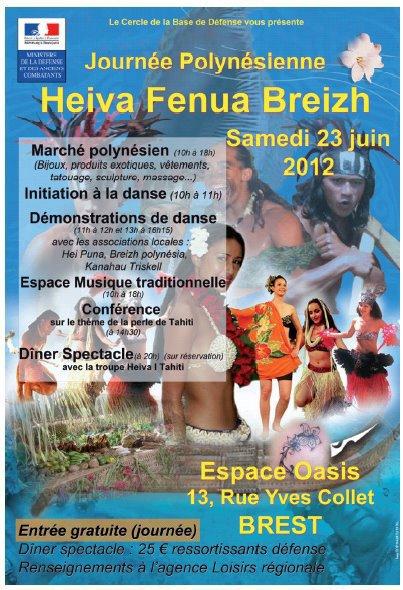 Prestation pour le HEIVA FENUA BREIZH à Brest, le samedi 23 juin