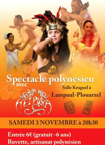 Spectacle polynésien le 3 Novembre à Lampaul- Plouarzel