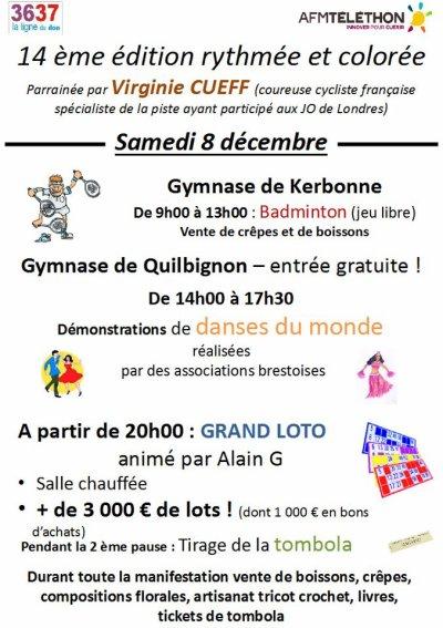 Prestation du Samedi 8 Décembre 2012 - Téléthon au gymnase de Quilbignon à Brest