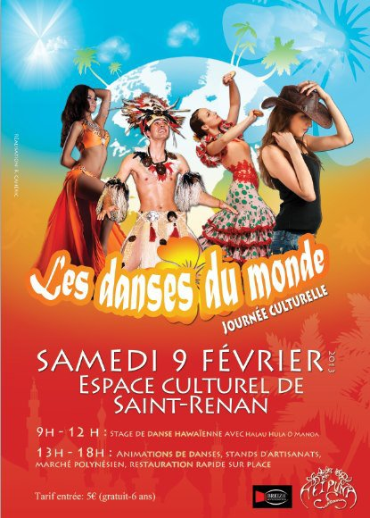 Journée culturelle Les danses du monde - Samedi 9 Février 2013 à l'Espace Culturel de Saint-Renan