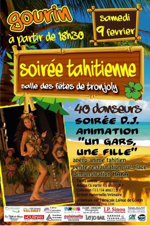 Samedi 9 Février 2013 - Soirée polynésienne à Gourin (56)