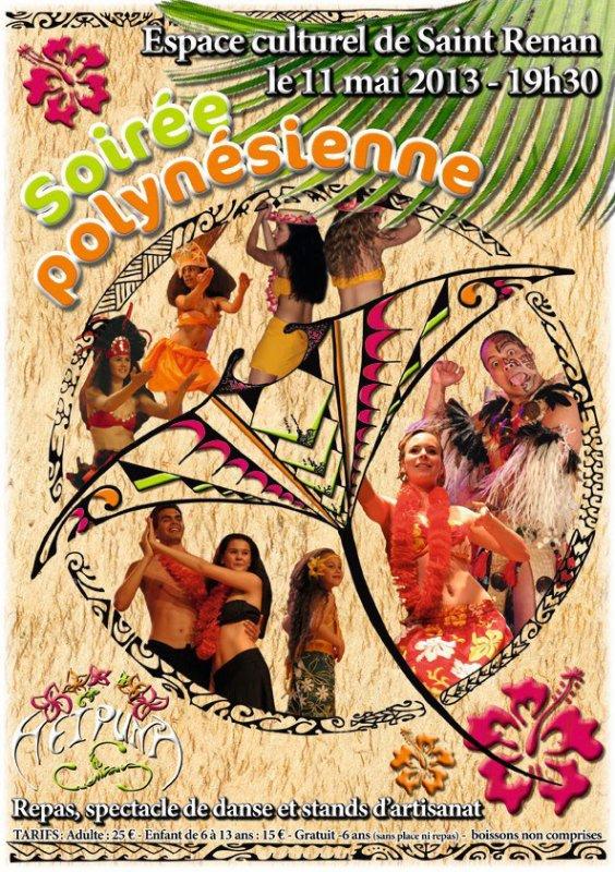 DINER SPECTACLE POLYNÉSIEN - SAMEDI 11 MAI 2013 - SAINT RENAN