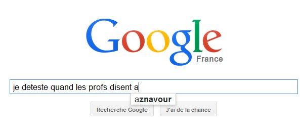 Et quand Google s'y met...x)