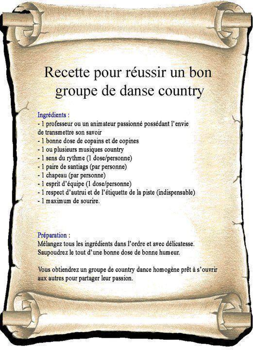 POUR MES AMIS DE LA  COUNTRY