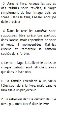 DIFFERENCE LIVRE/FILM