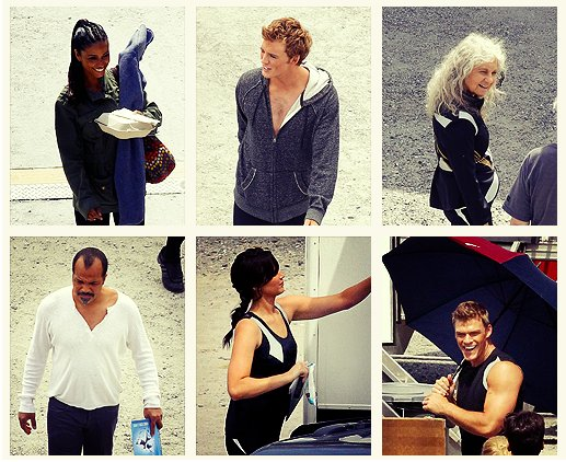 ACTEURS TOURNAGE CATCHING FIRE