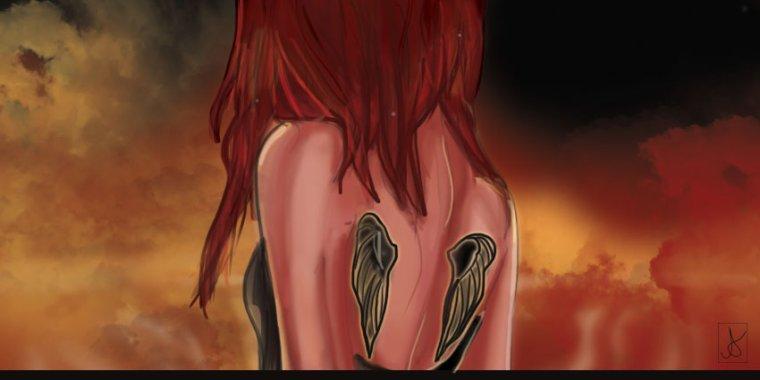 Je n'étais qu'une fille banale avec une vie banale aveuglé par l'amour. Parfois le destin nous joue des tours. Il te possède, il te transforme et t'oblige à déployer tes ailes trop rapidement. A peine ai-je eu le temps de verser une larme qu'il était déjà trop tard. On ne peut changer le passé. Rongée par ce sentiment, je vois mon chemin trouble et sans fin. Mon âme a succombé à sa lumière. Trop aveuglante, j'y ai versé le sang pur pour un prix que je ne voulais. De la jeune fille naïve y est née un monstre. Un monstre qui n'a pas peur de la mort et qui ose montrer ses dents. Je ne me reconnais plus. Remarque, tout a changé. On m'a tout volé. Je dois maintenant y faire face. Mais au fond de moi j'ai peur car je sais que déjà, en me cotoyant, ils m'ont déjà tué. Mes ailes de feu on alors tout brûlée sur le passage. Aurai-je droit à ma rédemption? Ou serais-je l'éternel esclave du destin ?      LE DESTIN DES 4 ELEMENTS