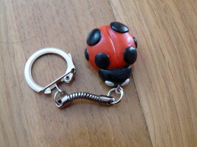 Portes-clés : La coccinelle.