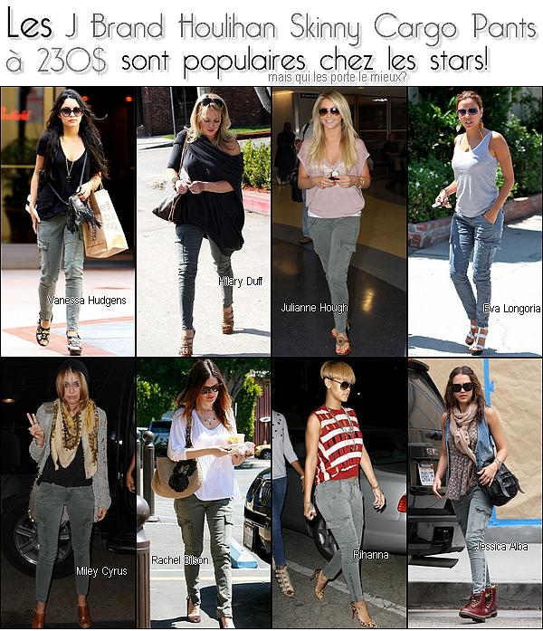les jeans skinny cargo sont populaires chez les stars mais qui les portent le mieux??? :I