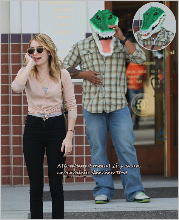 la semaine just laugh ; emma roberts et le crocrodile.