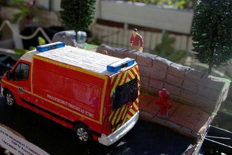 Diorama VSAV du CSP D'AJACCIO (Accident Voie Publique )