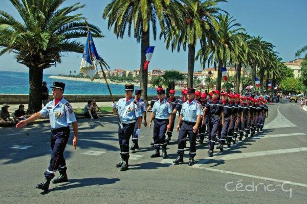 14 juillet des Sapeurs Pompiers d'Ajaccio