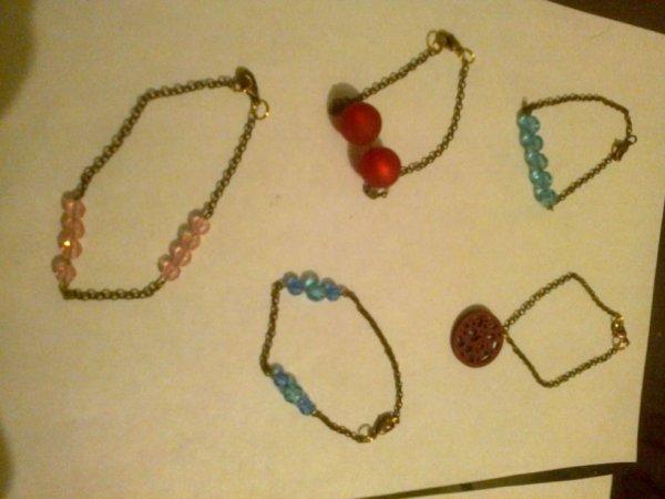 bracelets cuivrés