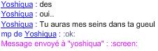 Yoshiqua et ses seins ! :D