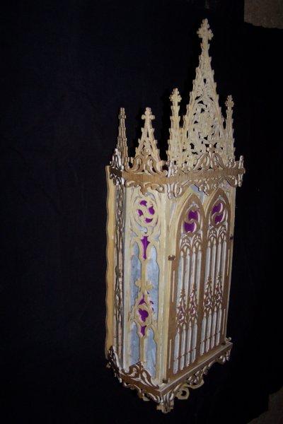 Découpage sur bois - 161 (Niche gothique)