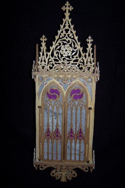Découpage sur bois - 163 (Niche gothique) - Suite