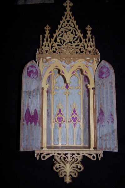 Découpage sur bois - 164 (Niche gothique) - Suite