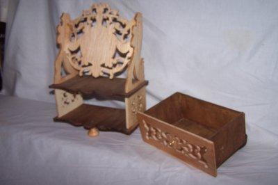 Découpage sur bois - 167 (Une coiffeuse miniature)