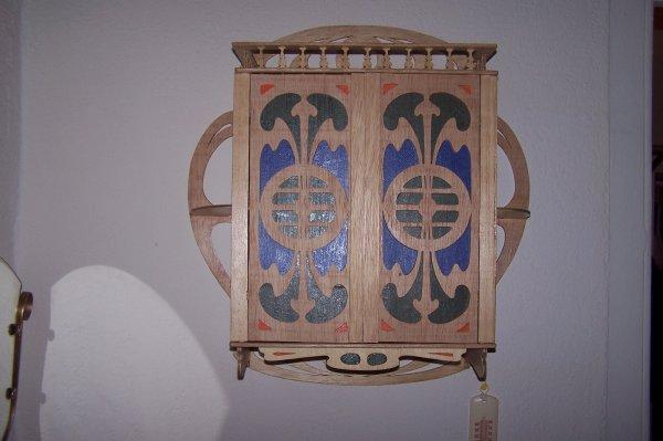 Découpage sur bois - 179 (Armoire art nouveau)