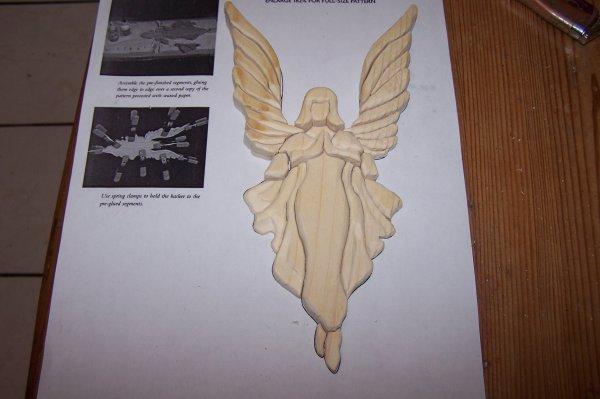 Découpage sur bois - 191 (Ange Intarsia)