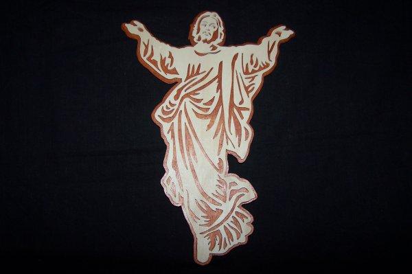 Découpage sur bois - 228 (Jésus bras ouvert)