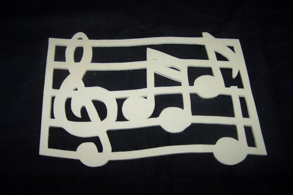 Découpage sur bois - 229 (Partition Musique)