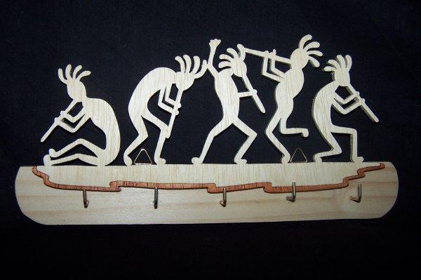 Découpage sur bois - 230 (Flutistes Porte-clés)