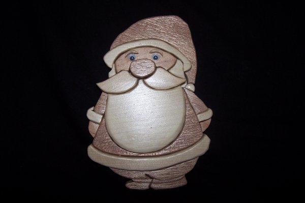Découpage sur bois - 236 (Père Noël complet) - {Intarsia}