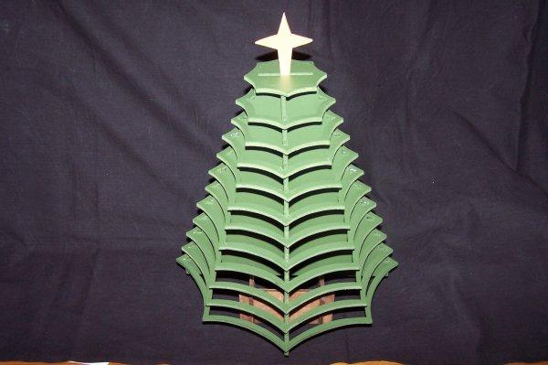 Découpage sur bois - 241 (Sapin de Noël)