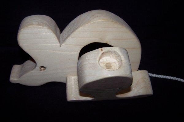 Découpage sur bois - 246 (Souris Boîte à dents) En sapin de 36 MM