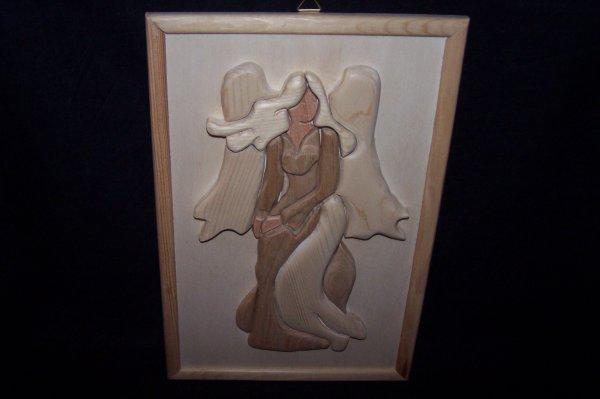 Découpage sur bois - 251 (Ange) - (Intarsia)