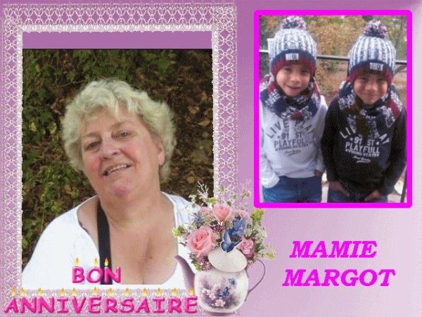 TRÈS BON ANNIVERSAIRE A MA GRAND AMIE MARGOT