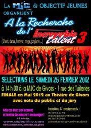 A LA RECHERCHE DE L'INCROYABLE TALENT 3