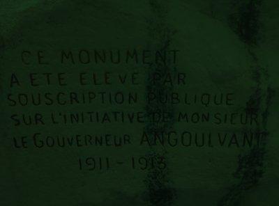 le monument de angoulvant