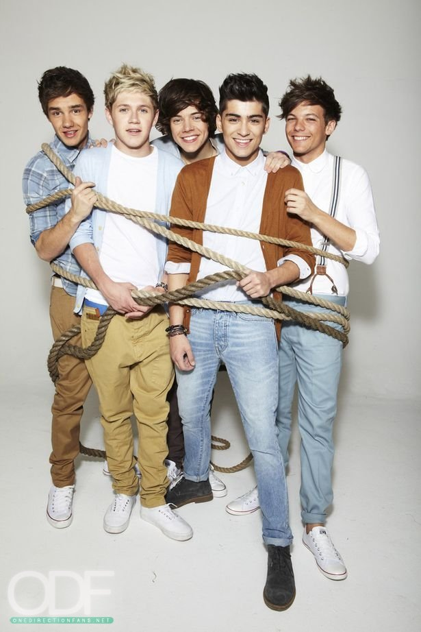 One Direction's photoshoot.
