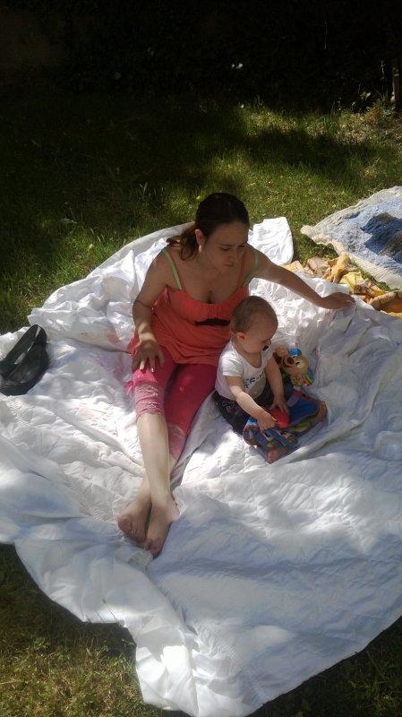 Ma femme et notre fils