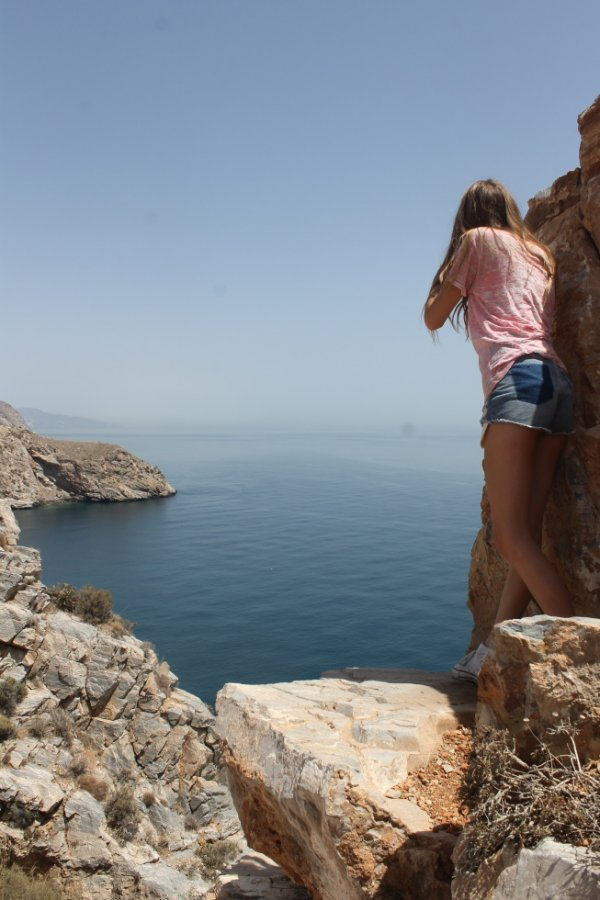 Checking the view of the Mediterranean Sea