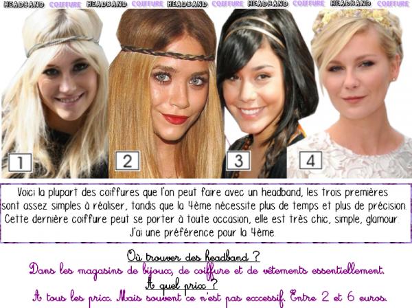 Cheveux : Différentes façons de porter un headband !