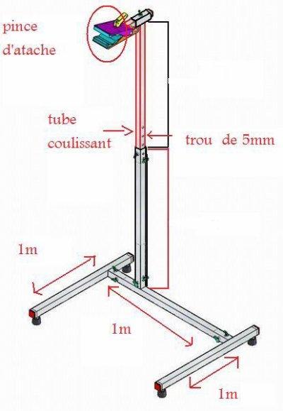Fabrication de mon pied d 39 atelier pour mon freeride blog de 62 freeride - Fabriquer support velo ...