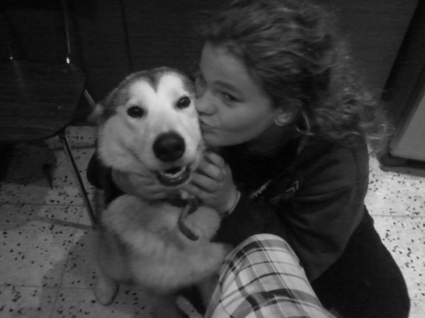 moi et mon chien (malamute)