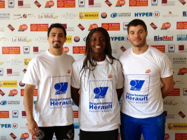 Equipe de France Elite Seniors - Nayo Ketcahnke, Aucouturier et Bardis en stage pour le Mondial